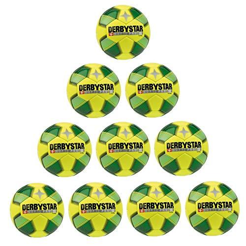 FanSport24 Derbystar Fußball Soft Pro Futsal Ball Trainingsball 10er Paket gelb grün Gr 5