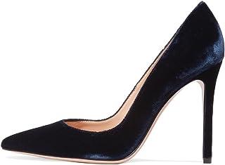 7f7013470b1c8c EDEFS Escarpins Vernis Femme - Chaussures à Talons Hauts Aiguille - Bout  Pointu PU Cuir -