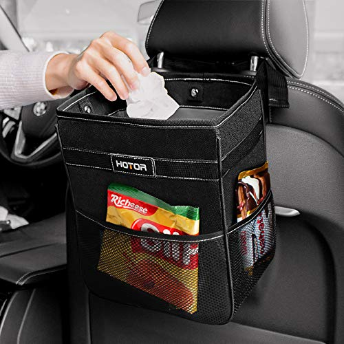 HOTOR Car Trash Can - Multifunctional Car Organizer for Storage & Trash, Large Car Trash Bin with Big Opening & Leakproof
