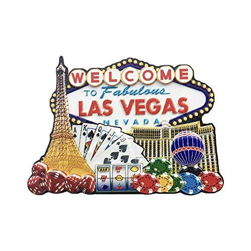 3D Las Vegas USA Kühlschrank Kühlschrankmagnet Tourist Souvenirs Handmade Harz Handwerk Magnetische Aufkleber Home Küche Dekoration Reise Geschenk