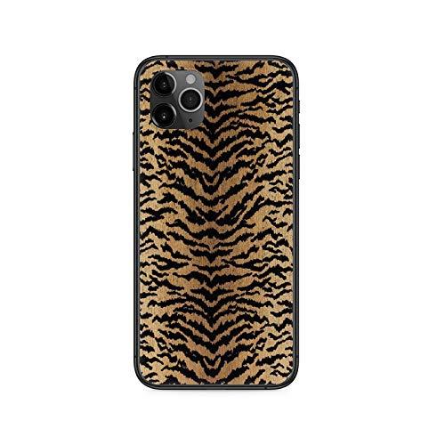 Phonecase - Carcasa para iPhone 4, 4S, 5, 5S, SE, 5C, 6, 6S, 7, 8 Plus, X, Xs, Xr 11 Pro Max 2020, diseño de leopardo, color negro