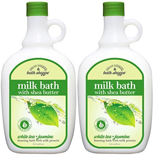 Price comparison product image Village Naturals Bath Shoppe,  Milk Bath,  White Tea and Jasmine,  28 Fl Oz,  Pack of 2