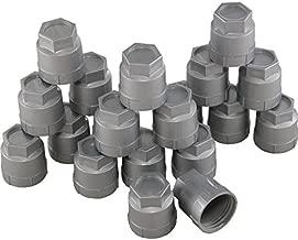 Eckler's Premier Quality Products 25-111297 - Corvette Lug Nut Cap Set Plastic Silver Factory Style