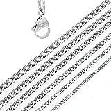 DonDon Collar de Acero Inoxidable masivo para Hombres Longitud 52 cm - Ancho 0,4 cm
