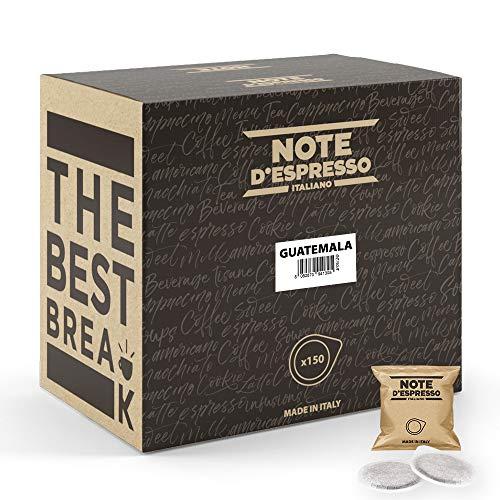 Note d'Espresso Italiano - Bolsitas de café de Guatemala monodosis, 7g (caja de 150 bolsas de papel)