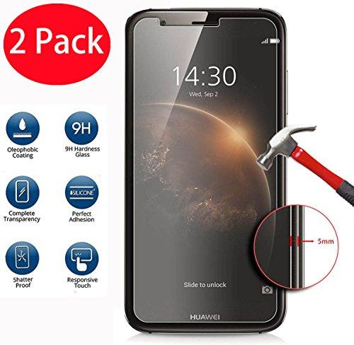 FoneExpert® 2 Pack - Huawei Ascend G8 / GX8 Panzerglas, Gehärtetem Schutzfolie Glasfolie Hartglas Panzerfolie Bildschirmschutzfolie für Huawei Ascend G8 / GX8