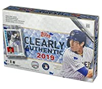 2019 Topps Clearly Authentic MLB Baseball box (ONE encased Autograph card)