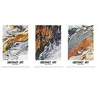 現代のシンプルな抽象キャンバス絵画モジュラーポスターとリビングルームの装飾のためのプリント家の装飾60x90cm-3個フレームレス