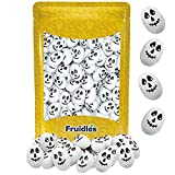 Halloween Milk Chocolate Skulls, Double Crisp, Trick-Or-Treat Party Bag Fillers, Individually Wrapped in Multi-color Skull Design Foils, Kosher Certified (Half-Pound)
