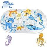 CODIRATO Badewannenmatte Baby Wanneneinlage mit Saugnäpfen Anti-Rutsch Karikatur Duschmatte Antirutsch Badematte für Baby, Kinder 39 x 69 cm