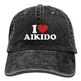 Gorra de béisbol Unisex Sombrero de Tela de Mezclilla Amo el Aikido Ajustable Snapback...