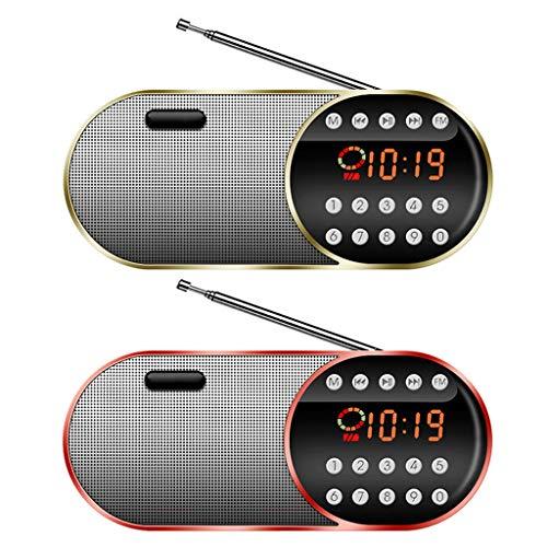 Noband JSFGFSDH FM Radio recargable Walkman con tarjeta plug-in Home Led Digital Display Radio