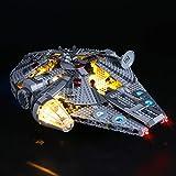 LIGHTAILING Conjunto de Luces (Star Wars Halcón Milenario) Modelo de Construcción de Bloques - Kit de luz LED Compatible con Lego 75257 (NO Incluido en el Modelo)