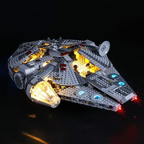 LIGHTAILING Jeu De Lumières pour (Star Wars Faucon Millenium) Modèle en Blocs De Construction - Kit De Lumière A LED Compatible avec Lego 75257(Ne Figurant Pas sur Le Modèle)