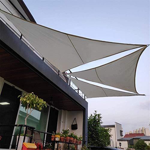 XRDSHY Vela De Sombra Triangular para Jardín Patio Exteriores Resistente Al Agua Protección Rayos UV Toldo Vela,Gray-3X3X4.3m