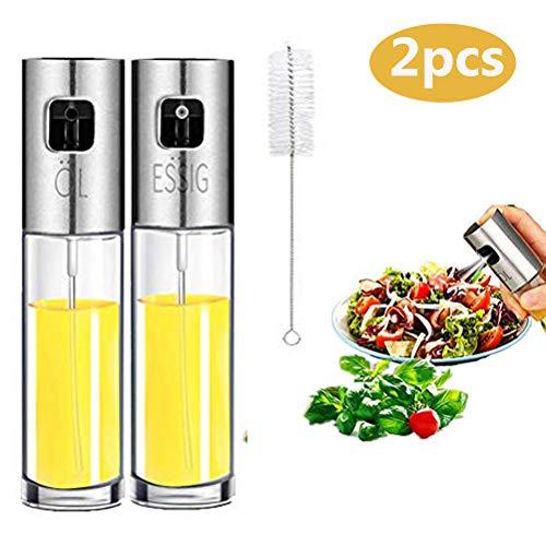 Nifogo Öl Sprayer, Olivenölsprüher, Glas Flasche Essig Spender Küche Werkzeug Zerstäuber für Kochen Öl Sprühflasche Salat, BBQ, Pasta(100ml)