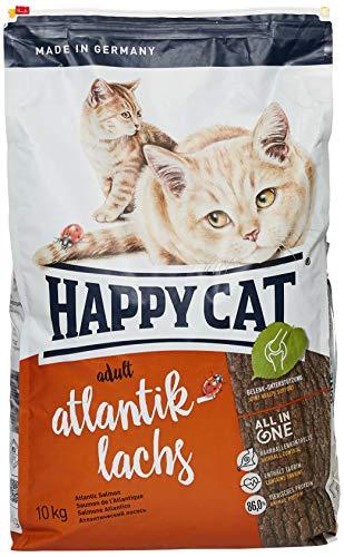 Happy Cat Katzenfutter 70034 Adult Atlantik-Lachs 10 kg