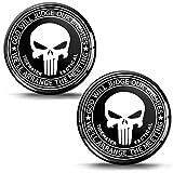 Biomar Labs® 2 x Aufkleber 3D Gel Silikon Stickers Punisher Skull Schädel Totenkopf Autoaufkleber...