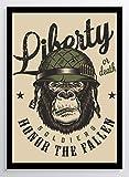 Liberty Soldat Affe Kunstdruck Poster -ungerahmt- Bild DIN