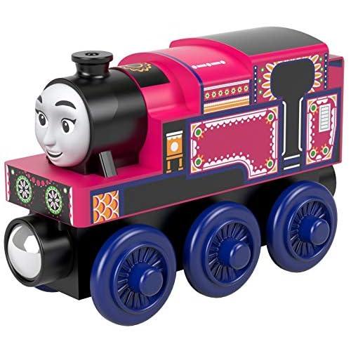 Il Trenino Thomas Wood Ashima, Locomotiva in Legno a Ruota Libera, Giocattolo per Bambini 3+ Anni, GGG33