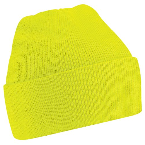 Beechfield - Bonnet tricoté - Adulte unisexe (Taille unique) (Jaune fluo)