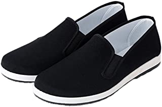 YunPeng Chinese Traditional Old Beijing Shoes Unisex Martial Art Kung Fu Tai Chi Rubber Sole Shoes Black