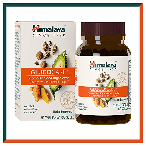Himalaya GlucoCare with Bitter Melon and Gymnema for Blood Sugar Support, 180 Capsules, 626 mg