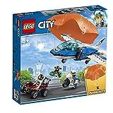 LEGO City ArrestoconIlParacadutedellaPoliziaAerea con 3 Veicoli:Aeroplano, Automobile e Moto Giocattolo, Set di Costruzioni per Bambini, 60208