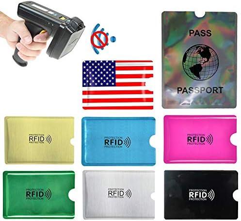 RFID Blocking Sleeves 44 PCS Identity Theft Protection Set of Credit Card Holders 40 PCS Passport product image