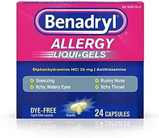 Benadryl Allergy Dye-Free 25 mg Liqui-Gels 24 ea (Pack of 3)