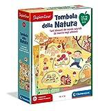 Clementoni Sapientino - Tombola della Natura - gioco educativo 2 anni, tessere illustrate ad incastro, gioco per imparare le stagioni - Made in Italy