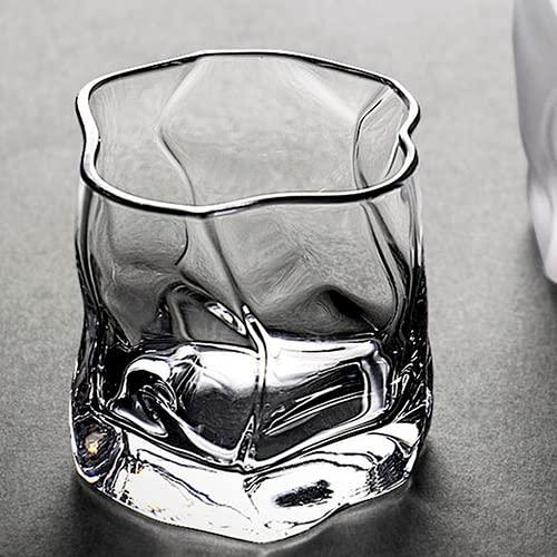 LOOPIG Japonés forma irregular whisky gafas hielo patrón plegable papel cristal whisky cerveza