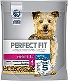 Perfect Fit Adult 1+ – Trockenfutter für erwachsene Hunde unter 10 kg – Reich an Huhn – Unterstützt die Vitalität von kleinen Hunden – 4 x 1.4 kg