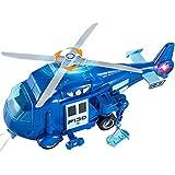 HERSITY Hubschrauber Spielzeug Kinder, Helikopter mit Licht und Sound,...