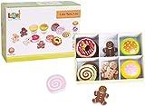 New Classic Toys 30623 LELIN Holz Kuchen Auswahl Preten Play fr Kinder, Mehrfarbig