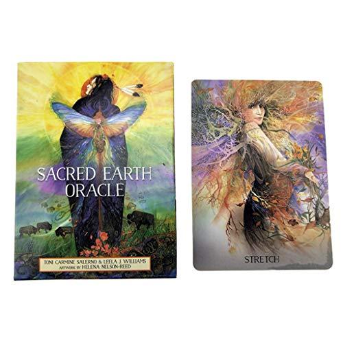caralin Cartas Oráculo Terra Sagrada Full Inglês 45 Cartas Baralho Tarots Divination Fate Game Art Paper Tarots