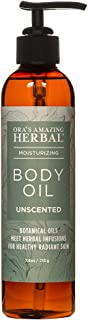 Unscented Natural Body Oil, Fragrance Free Moisturizer For Women And Men, Sensitive or Dry Skin, Eczema, Psoriasis, Vegan Skincare with Organic Jojoba, Apricot, Ora's Amazing Herbal