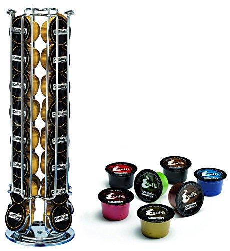 Thebigship® Porta cialde per caffé Caffitaly, girevole, capienza di 32 capsule, adatto per Ecaffe, Crem Caffe e Dualit