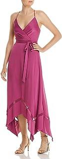 BCBG Max Azria Womens Halter Handkerchief Hem Evening Dress