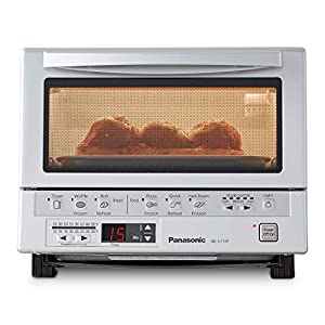 Panasonic FlashXpress Toaster Oven with Double Infrared Heating, 6 Auto Cook Options and Precise Temperature Control, 4…