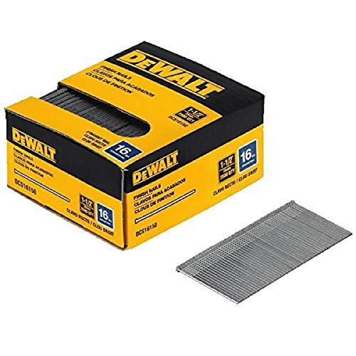 DEWALT Finish Nails, 1-1/2-Inch, 16GA, 2500-Pack (DCS16150)