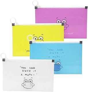 4 pcs Storage Box Per Mascherinas, Scatola di Immagazzinaggio di Plastica Cartone Animato Custodia di Immagazzinaggio Port...