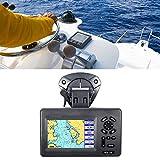 Denkerm Navigatore Nautico GPS, Sistema di Navigazione Marittima con Display LCD a Colori da 5 Pollici, Plotter Cartografico Marino Impermeabile con Funzione Waypoint/Icone
