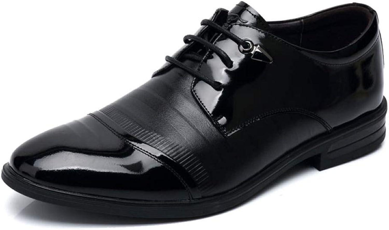 GTYW, Mans Classic läder skor, Business Derby skor, skor, skor, läder Round svart Lace läder skor, 39 -44  välkommen att välja