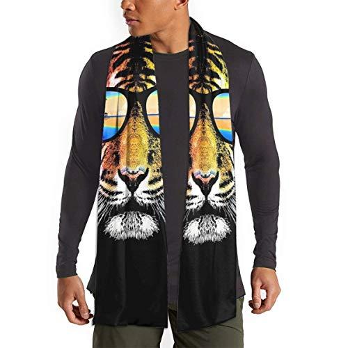 Tigre con gafas de sol de verano Bufanda de Hawaii para mujeres Hombres Ligero Unisex Moda Suave invierno Bufandas Chal Wraps