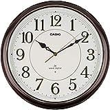 CASIO(カシオ) 掛け時計 電波 ブラウン 直径33cm アナログ 常時点灯 夜間秒針停止 掛け具セット IQ-1051NJ