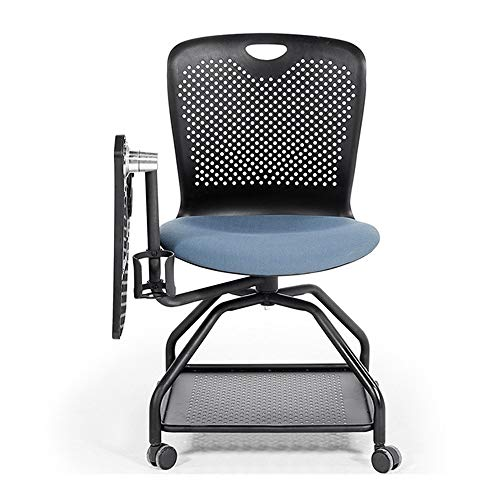 HO-TBO Büro Ausbildung Stuhl, Ausbildung Chair Writing Board multifunktionalen Konferenzraum Stuhl Drehstuhl Multimedia-Stuhl Bequem und praktisch (Color : Blue, Size : 45 x 47 x 87cm)