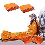 EAHUHO Notfall-Zelt, Biwaksack Survival Schlafsack für Erste Hilfe, PE Notfalldecke Bushcraft Outdoor Camping Wandern Ultraleicht hitzeabweisend Kälteschutz