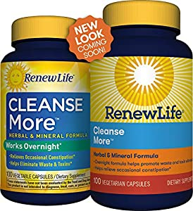 Renew Life Adult Cleanse - Cleanse More, Herbal & Mineral Formula - Overnight Constipation Relief - Gluten, Dairy & Soy Free - 100 Vegetarian Capsules #1