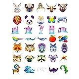 QueenHome 35 Pegatinas para niños y bebés, para niñas, niños y bebés, Juego de Pegatinas de la Serie de Animales, 35 Unidades